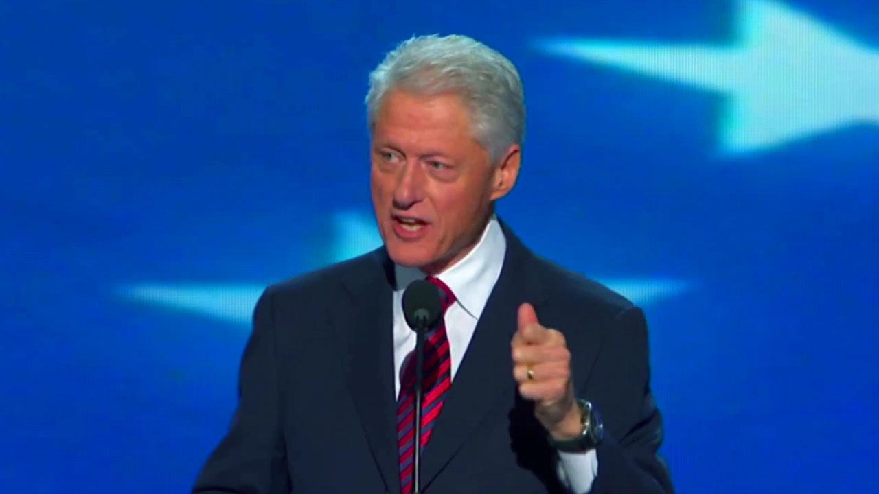 Former President Bill Clinton speaks at the Democratic National Convention in Charlotte, N.C., on Wednesday, Sept. 5, 2012.