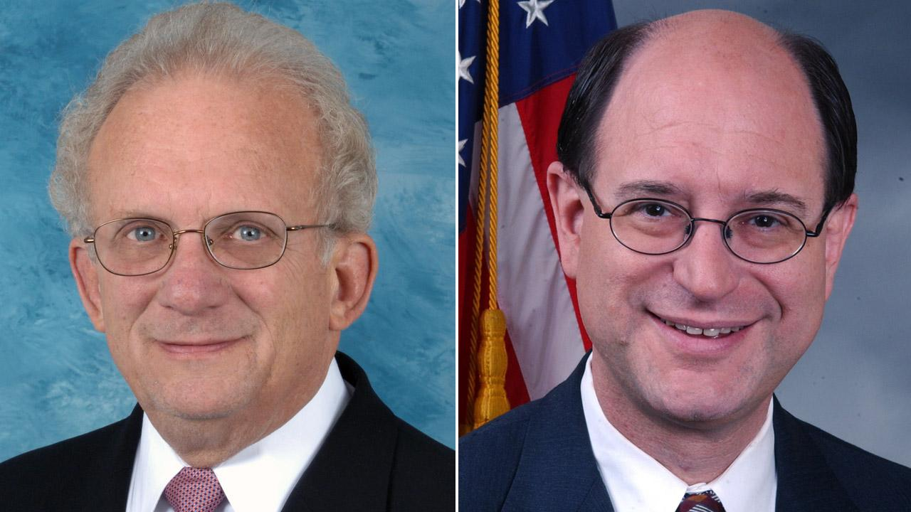 Congressmen Howard Berman, left, and Brad Sherman, right, are shown in undated file photos.