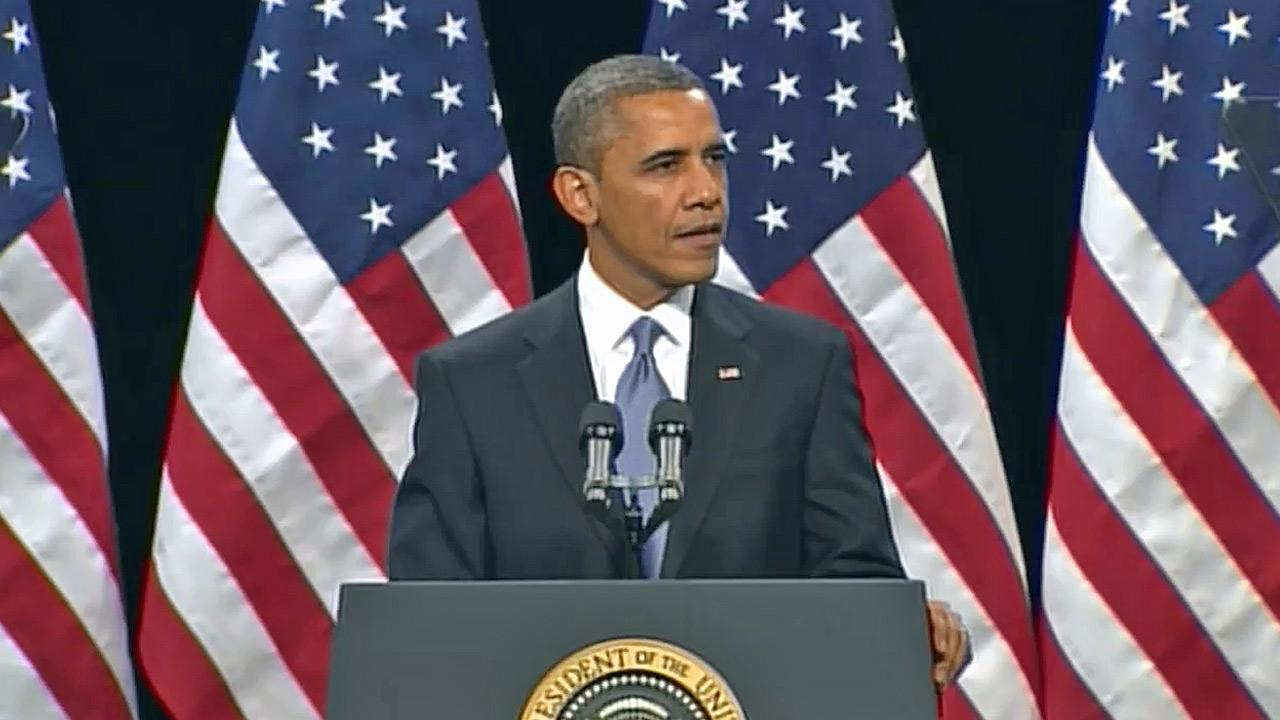 President Barack Obama speaks about immigration at Del Sol High School in Las Vegas on Tuesday, Jan. 29, 2013.