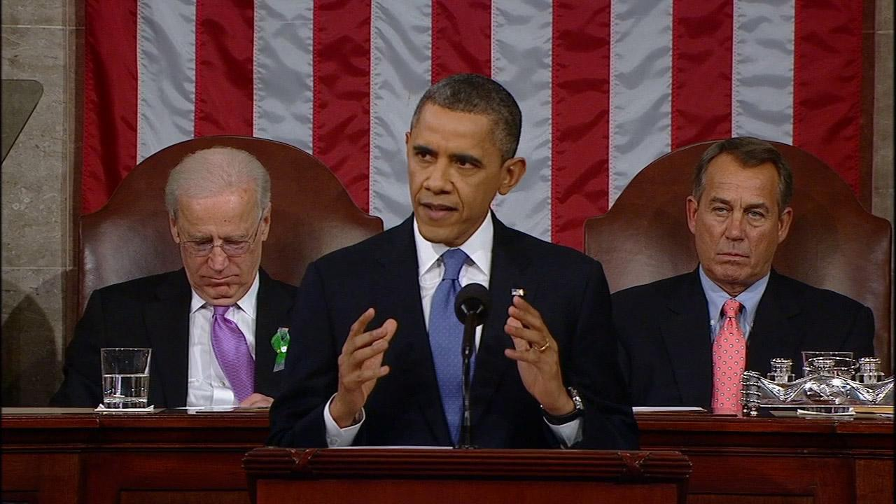 President Barack Obama delivers his State of the Union address on Tuesday Feb. 12, 2013.