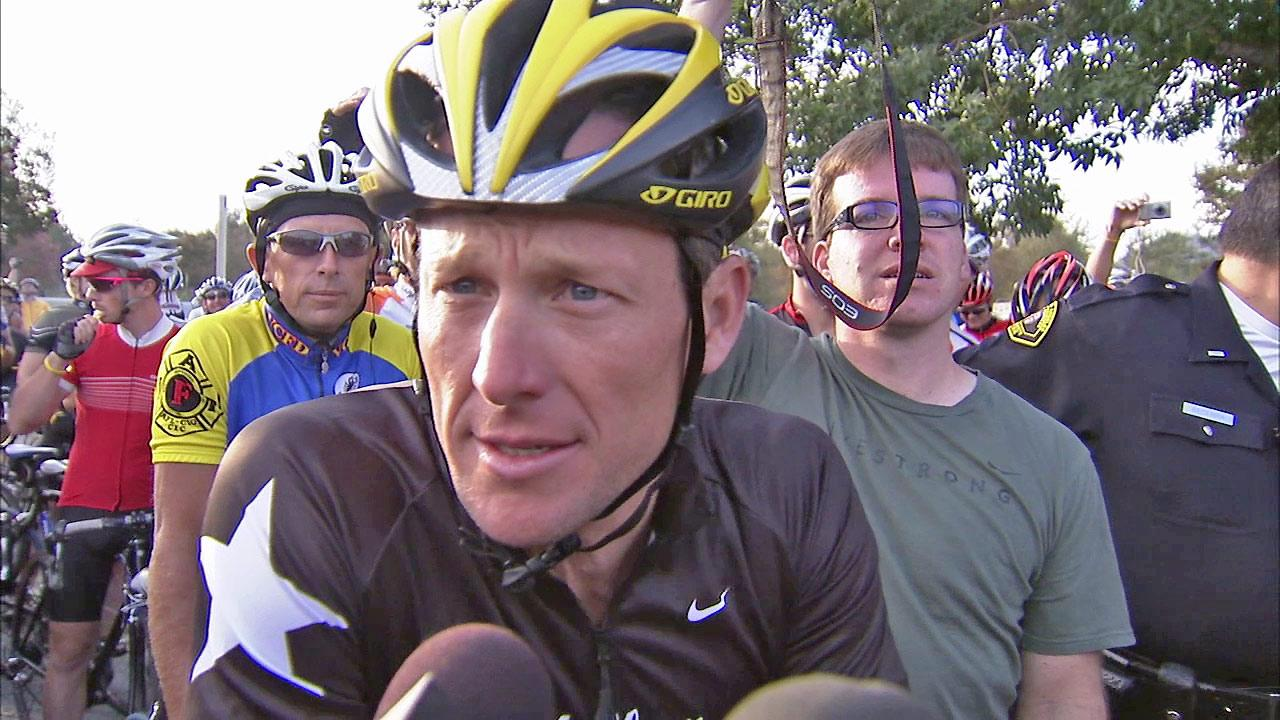 Lance Armstrong appears in this undated file photo.