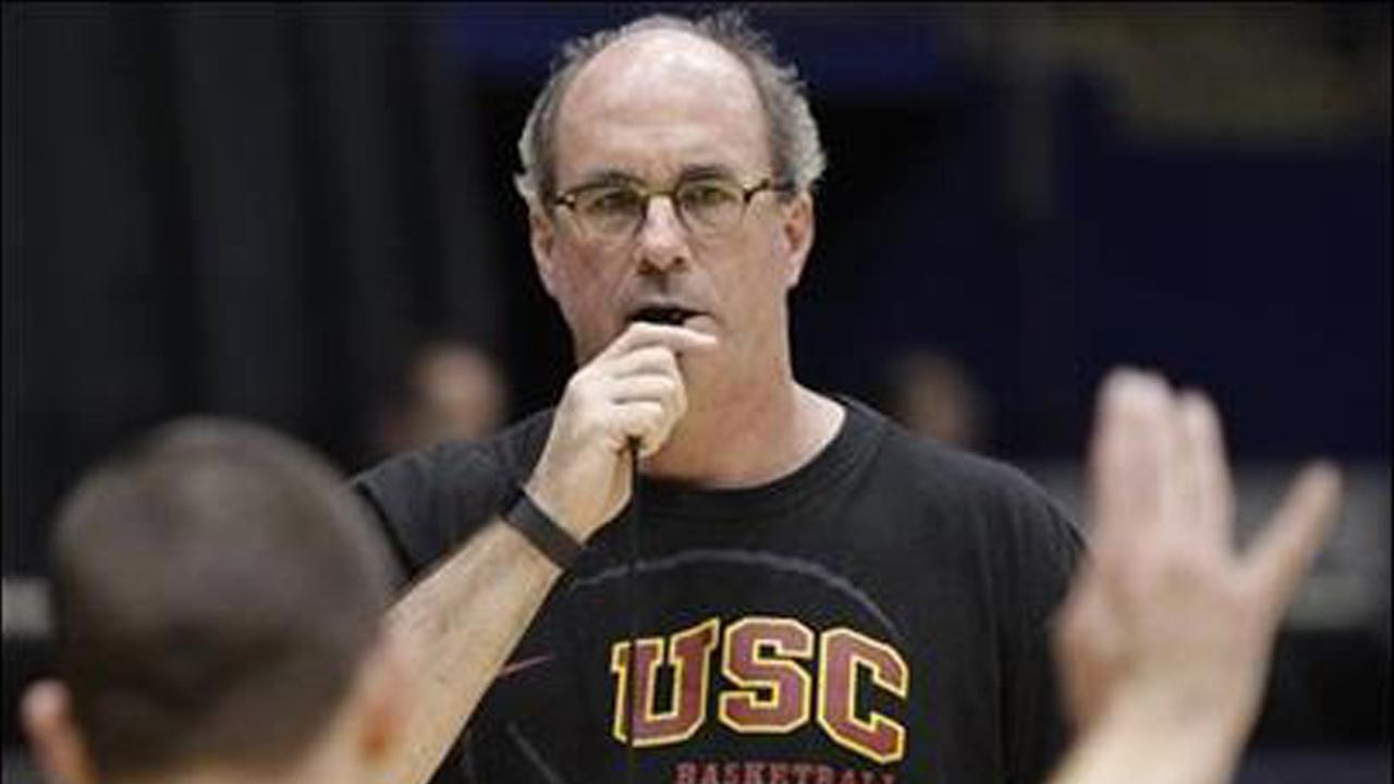 USC mens basketball coach Kevin ONeill is seen in this file photo.