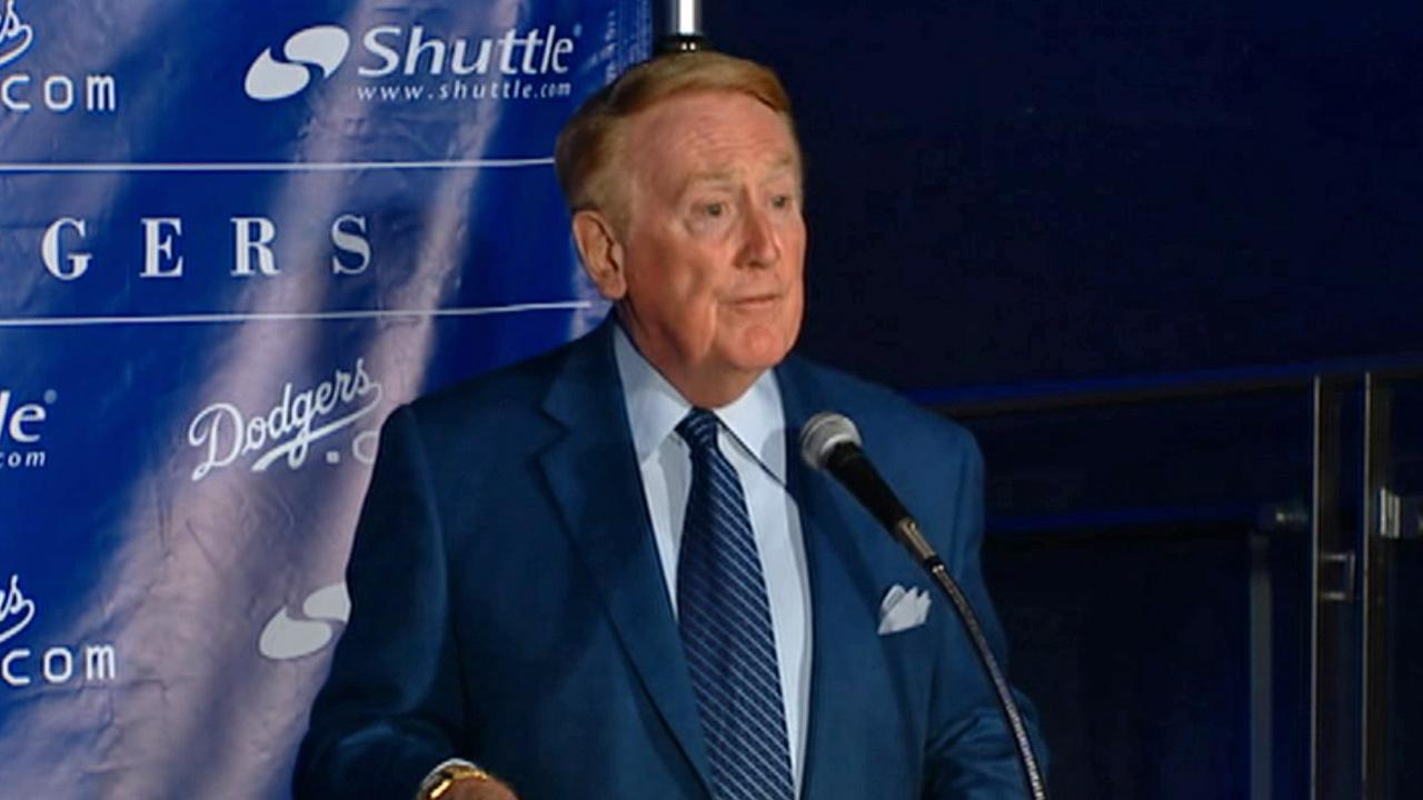 Vin Scully is seen in this undated file photo.