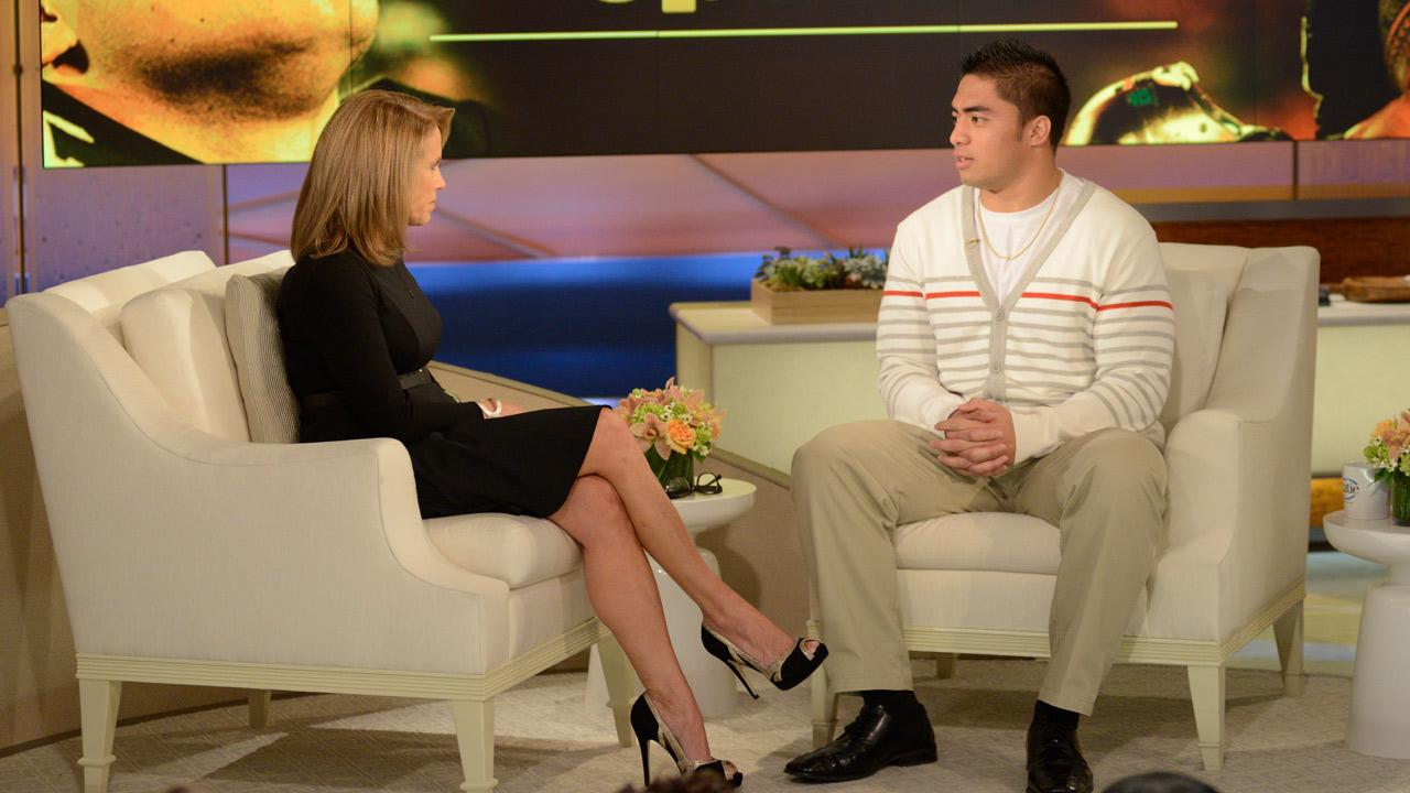 Notre Dame football star Manti Teo talks to Katie Couric in an exclusive interview on Katie.