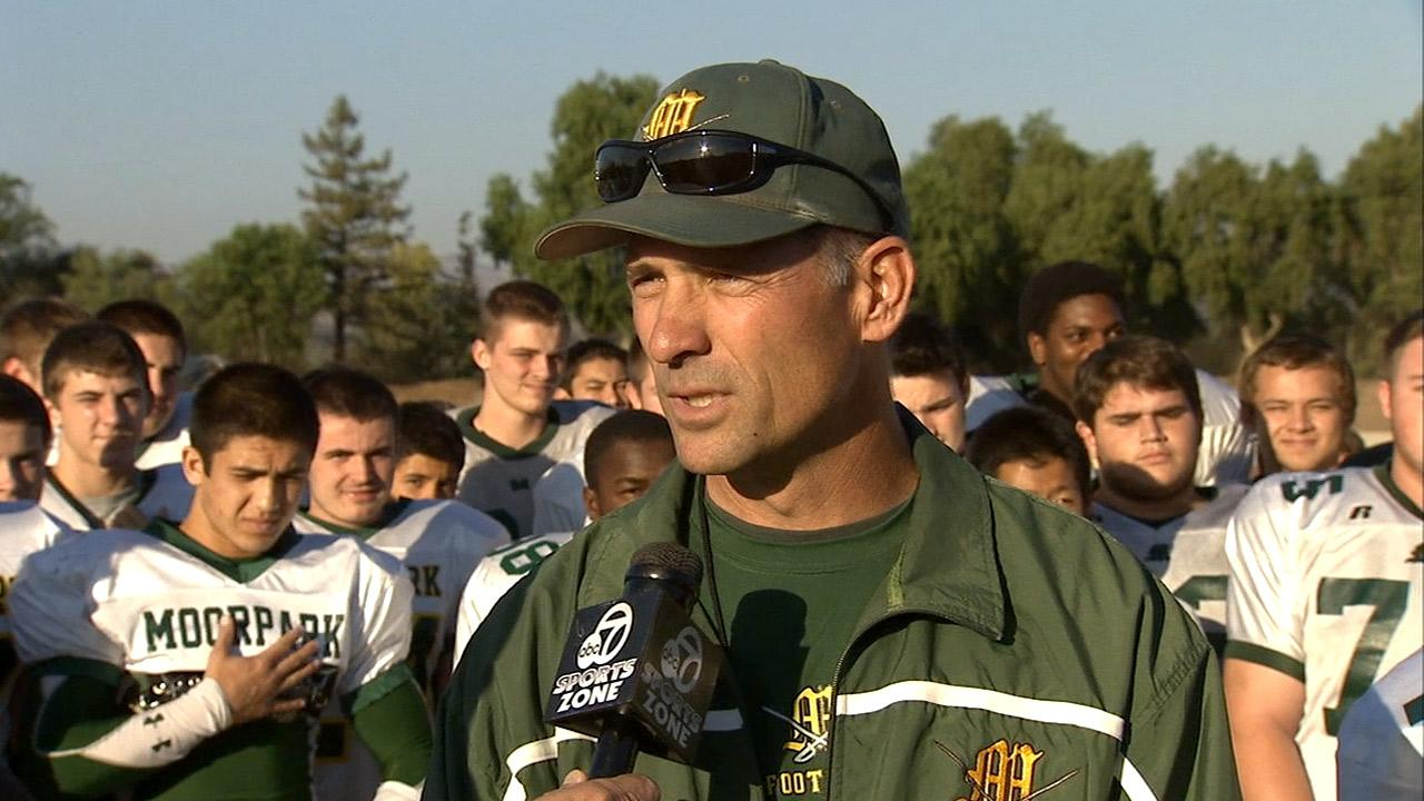 File photo of Tim Lins, the head coach of the Moorpark High School football program.