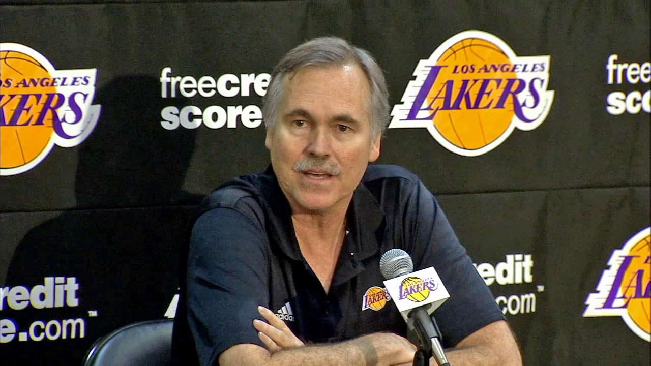 New Lakers Head Coach Mike DAntoni at his introductory press conference Thursday, November 15, 2012.