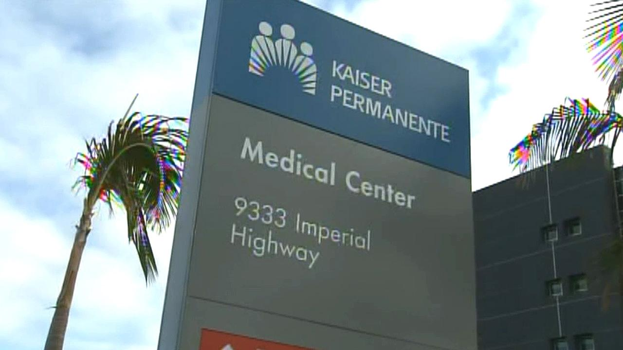 A Kaiser Permanente sign is shown in this undated file photo.