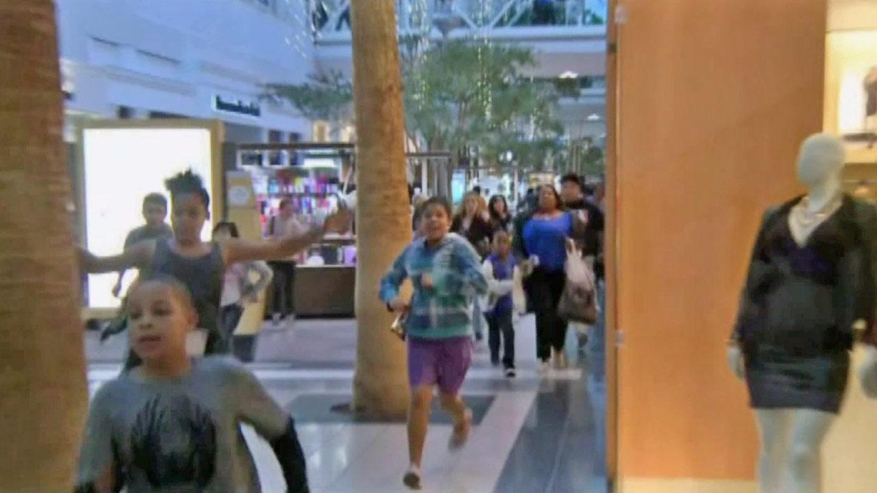 A mall in Sacramento was locked down Wednesday by a large fight and a report of a shooting on Dec. 26, 2012.