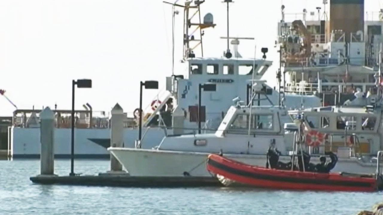 The Coast Guard canceled a search for a group of missing boaters off the coast of Monterey Tuesday, Feb. 26, 2013.