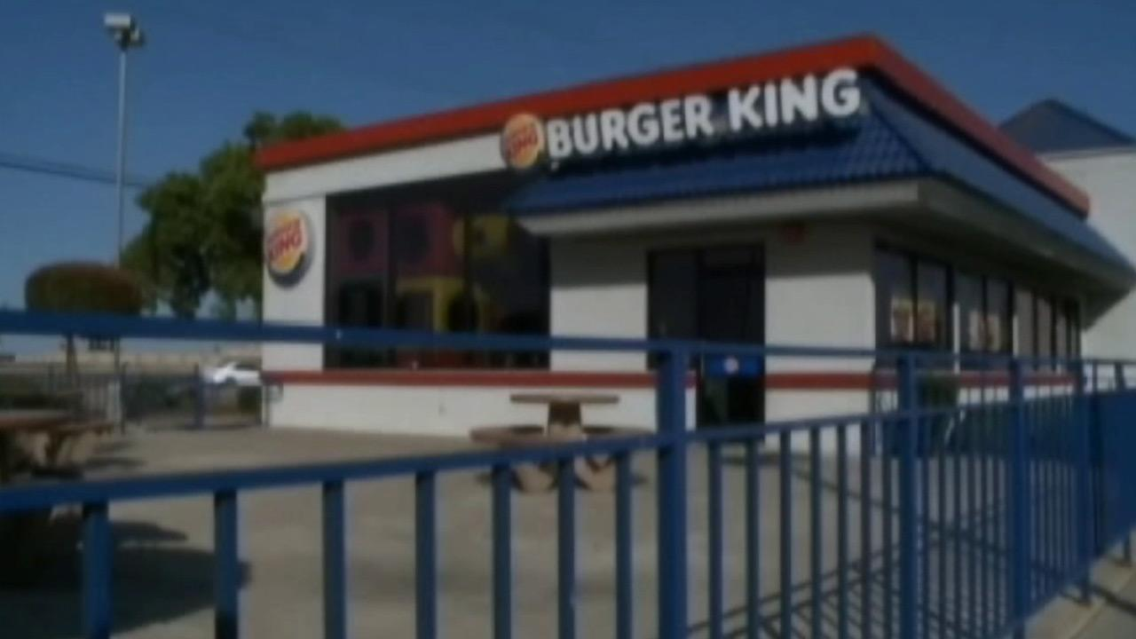 Two armed robbers stormed a Burger King restaurant in Stockton on Thursday, May 23, 2013.