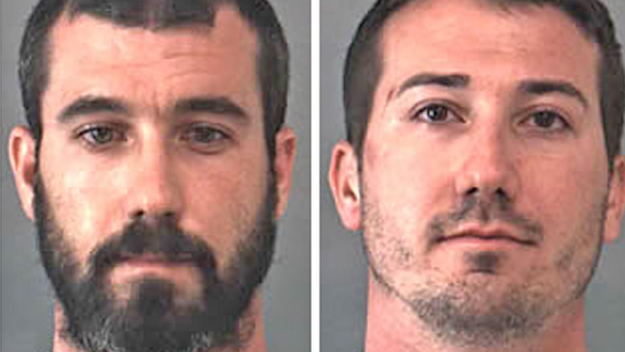 Gabriel Roger Minkie, 29, left, and Jacob Aaron Minkie, 27, right, are seen. They were arrested following a marijuana bust in Eastvale on Friday, June 28, 2013.