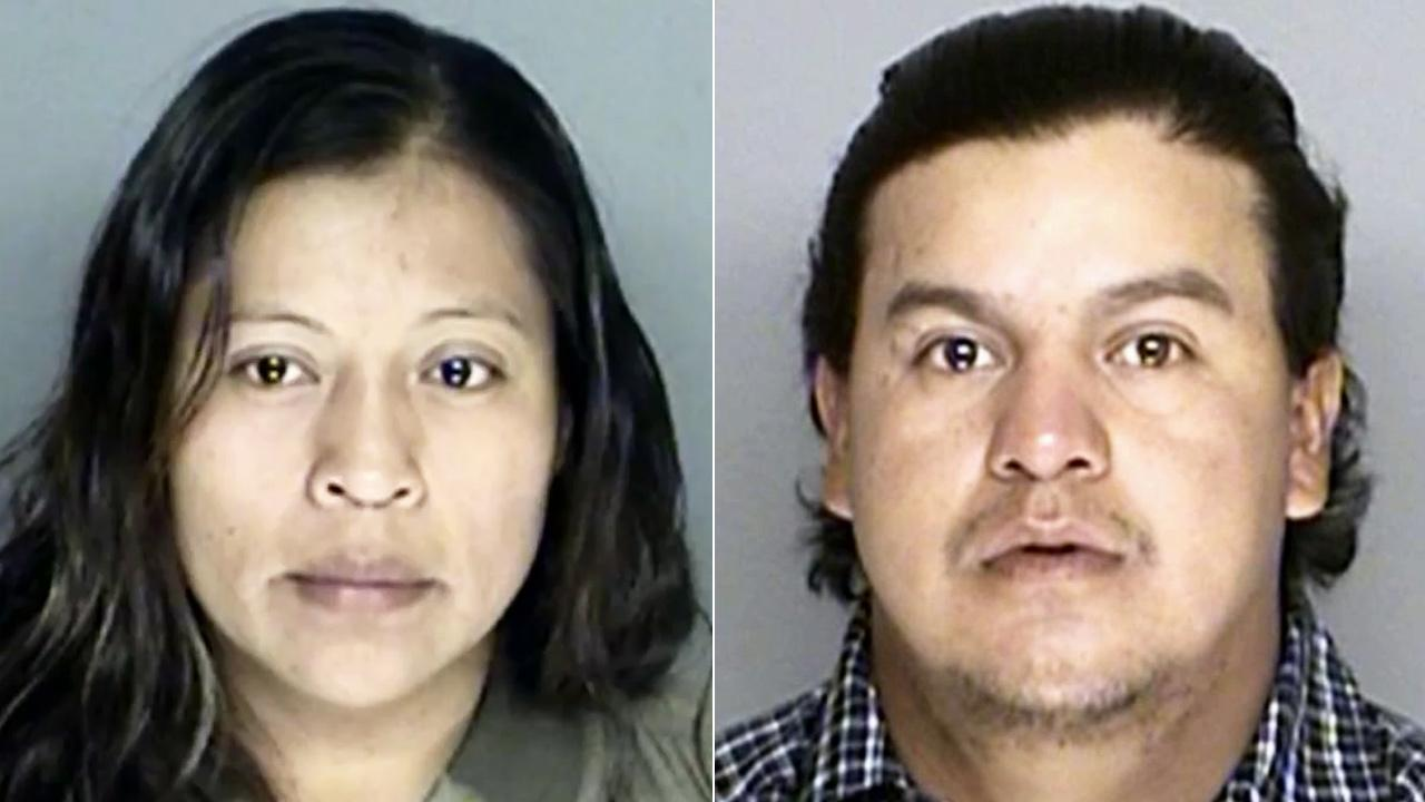 Bulmaro Reyes, 23, and Petra Zaragoza, 28, appear in undated file photos. The two were arrested for allegedly leaving their 4-year-old daughter in the car to gamble at a casino in Santa Ynez on Tuesday, March, 11, 2014.