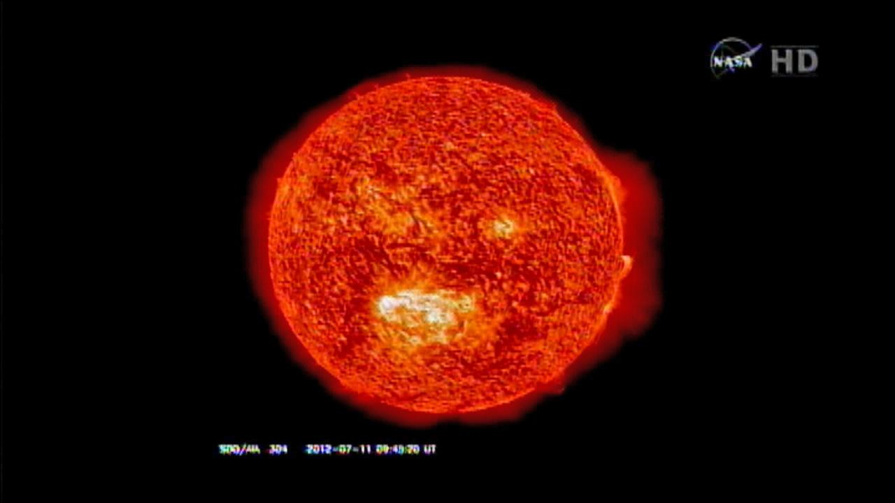 A solar flare is caught on camera by the NASA Solar Dynamics Observatory in Maryland.