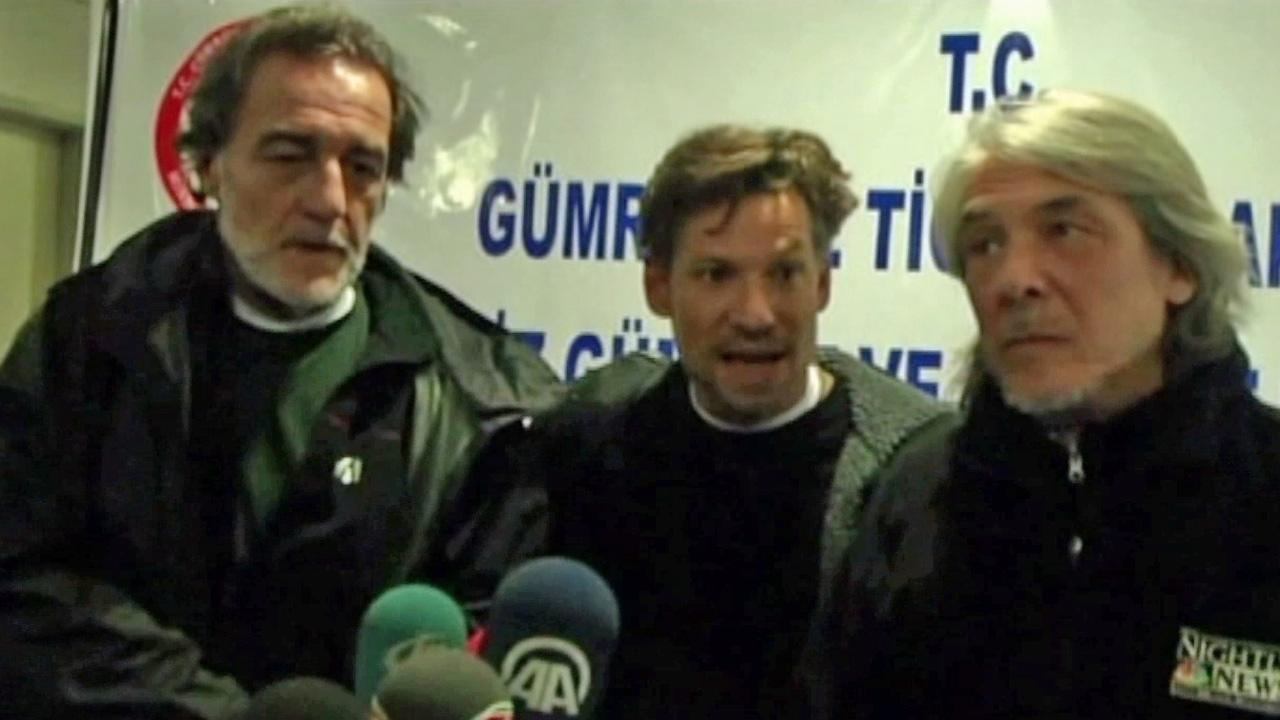 NBCs chief foreign correspondent Richard Engel (center) is seen in this undated file photo.