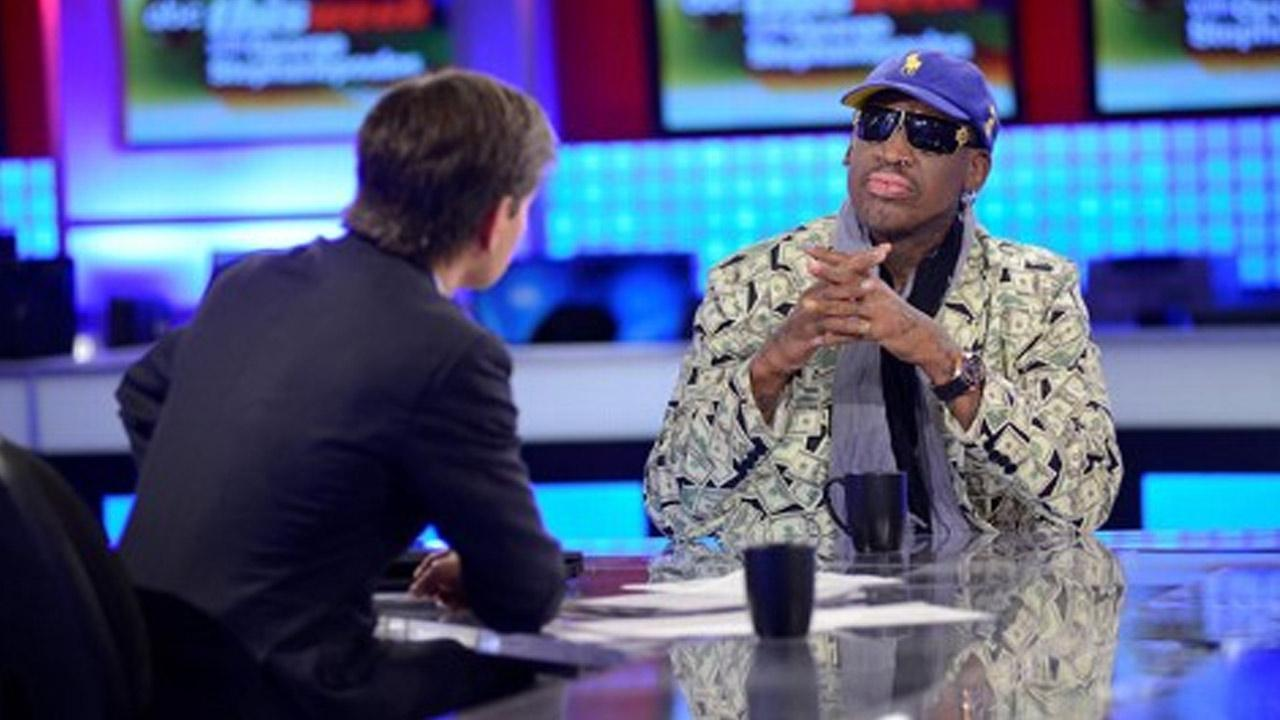Former NBA player Dennis Rodman appears on ABC News This Week and speaks with George Stephanopoulos about his unprecedented visit to North Korea.