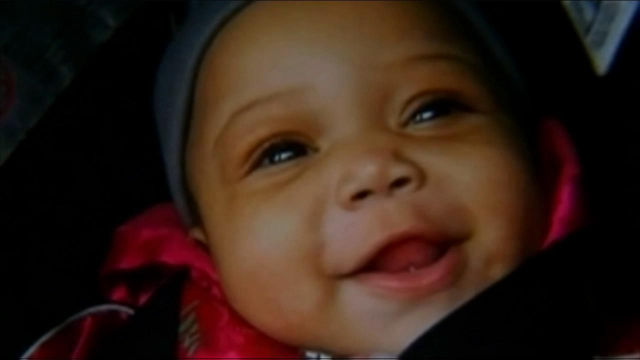 Baby Jonylah Watkins died in a hospital after she was shot five times in Chicago on Monday, March 11, 2013.