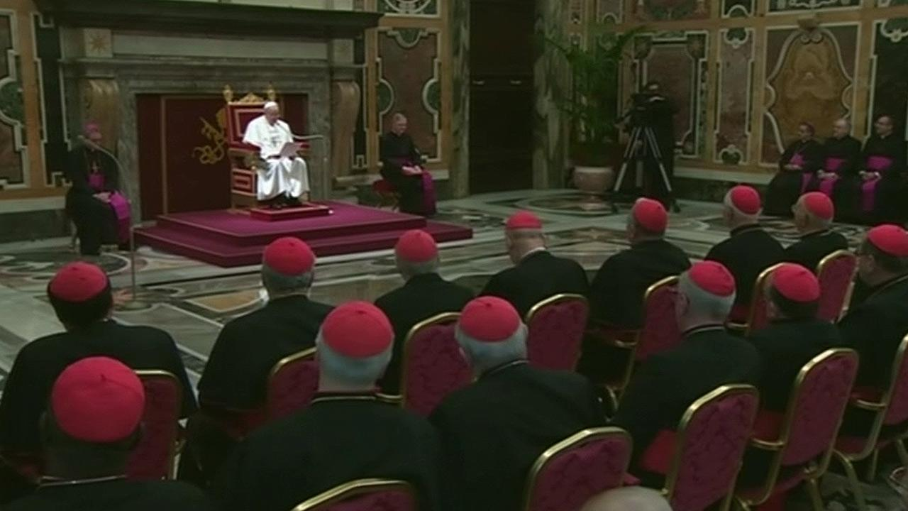 Pope Francis met with the College of Cardinals on Friday, March 15, 2013.