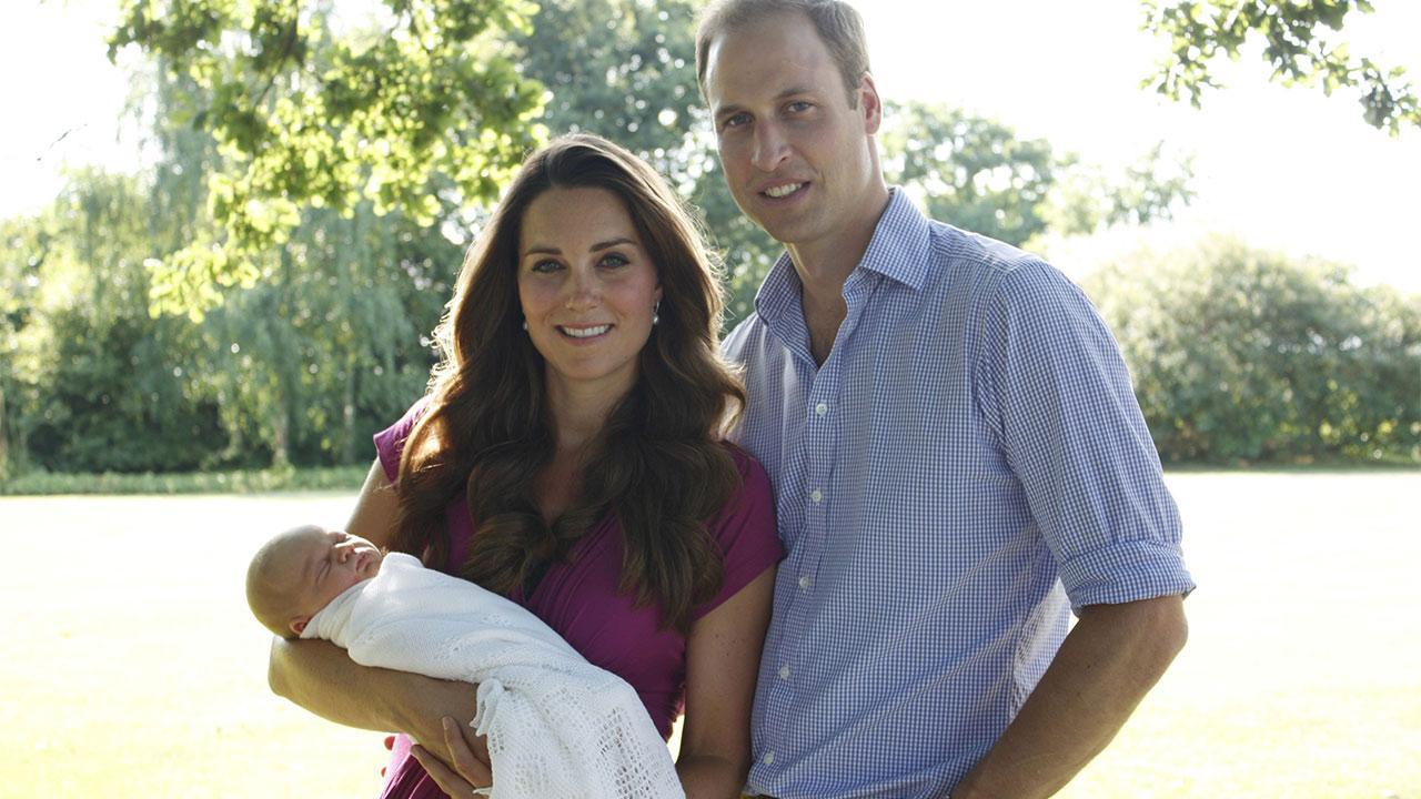 Prince William and his wife, Kate, Duchess of Cambridge, released this family photo with their son, Prince George.