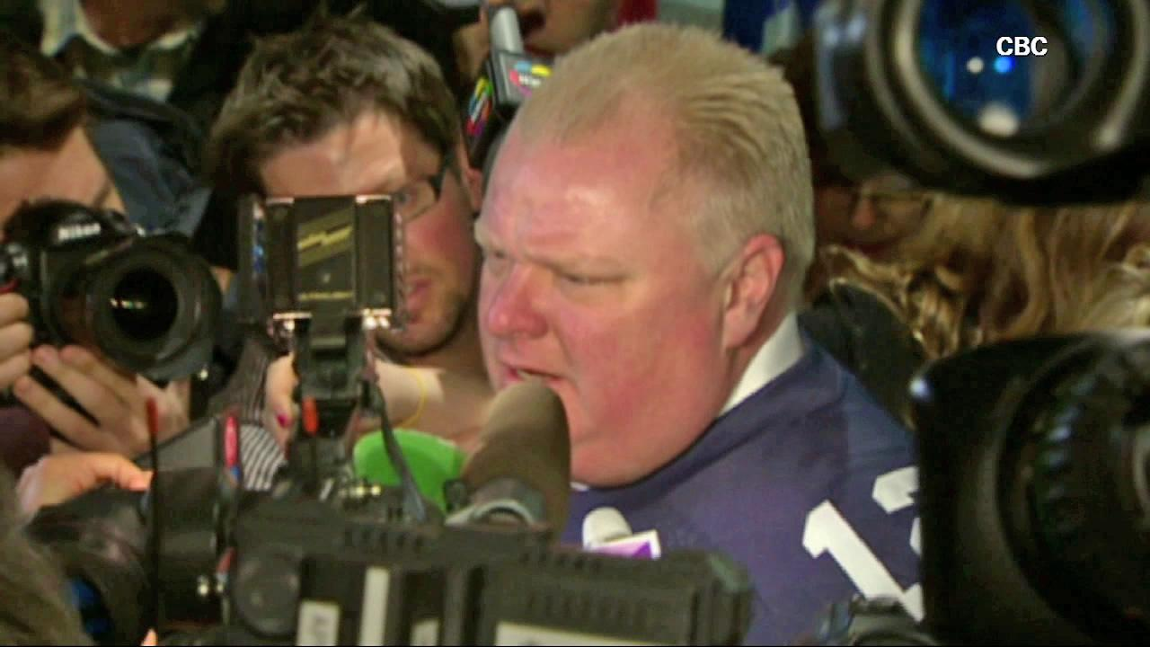 Toronto Mayor Rob Ford speaks to the media in this undated file photo.