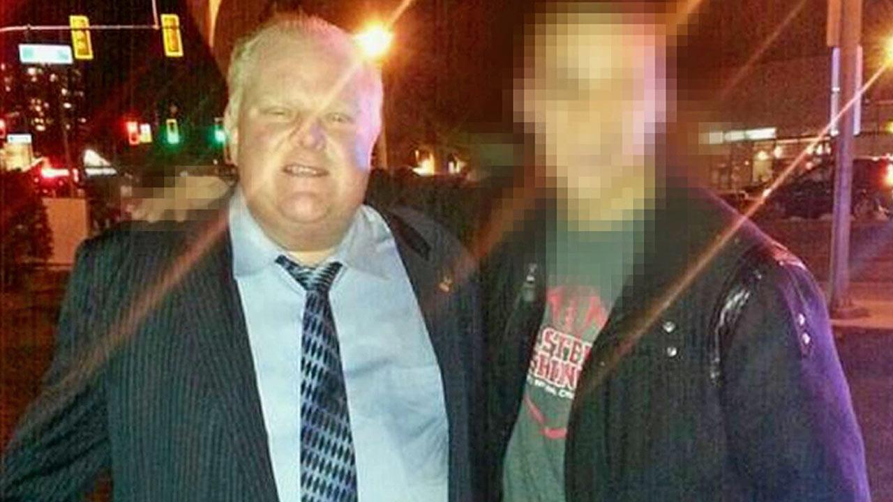 This picture posted on Twitter shows Toronto Mayor Rob Ford in Vancouver on Friday, Jan. 31, 2014.