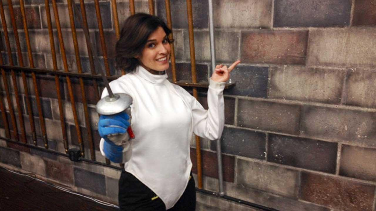 EOLAs Tina Malave learns the art of sword fighting and fencing at Swordplay in Burbank.