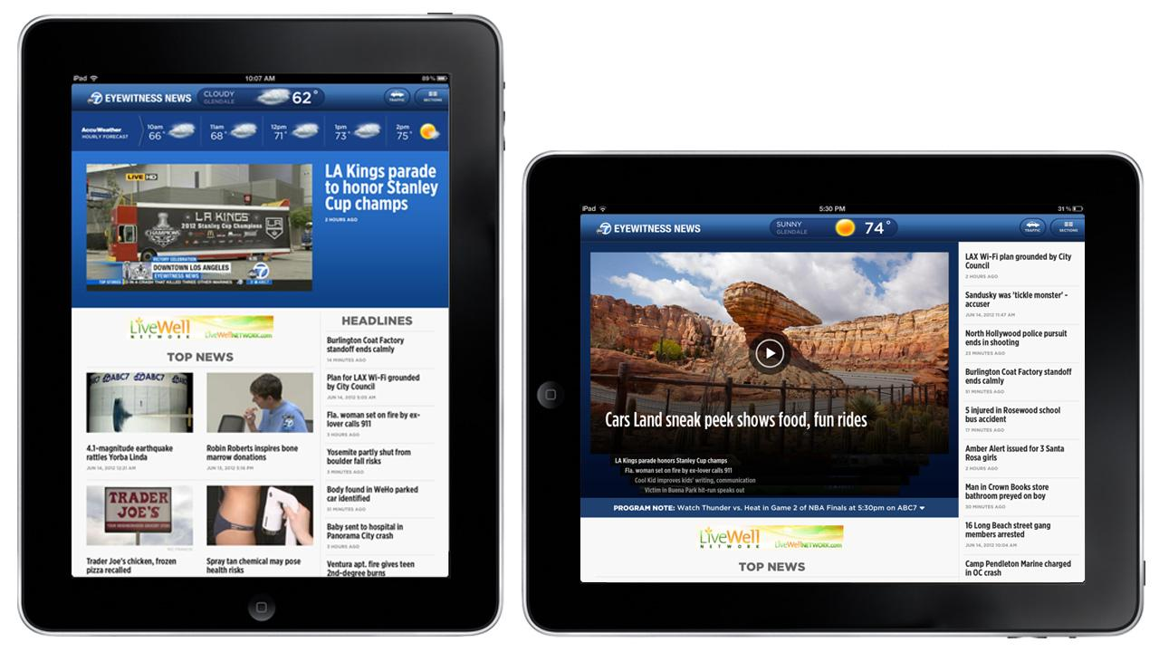 The ABC7 Los Angeles iPad App is available in the App Store.