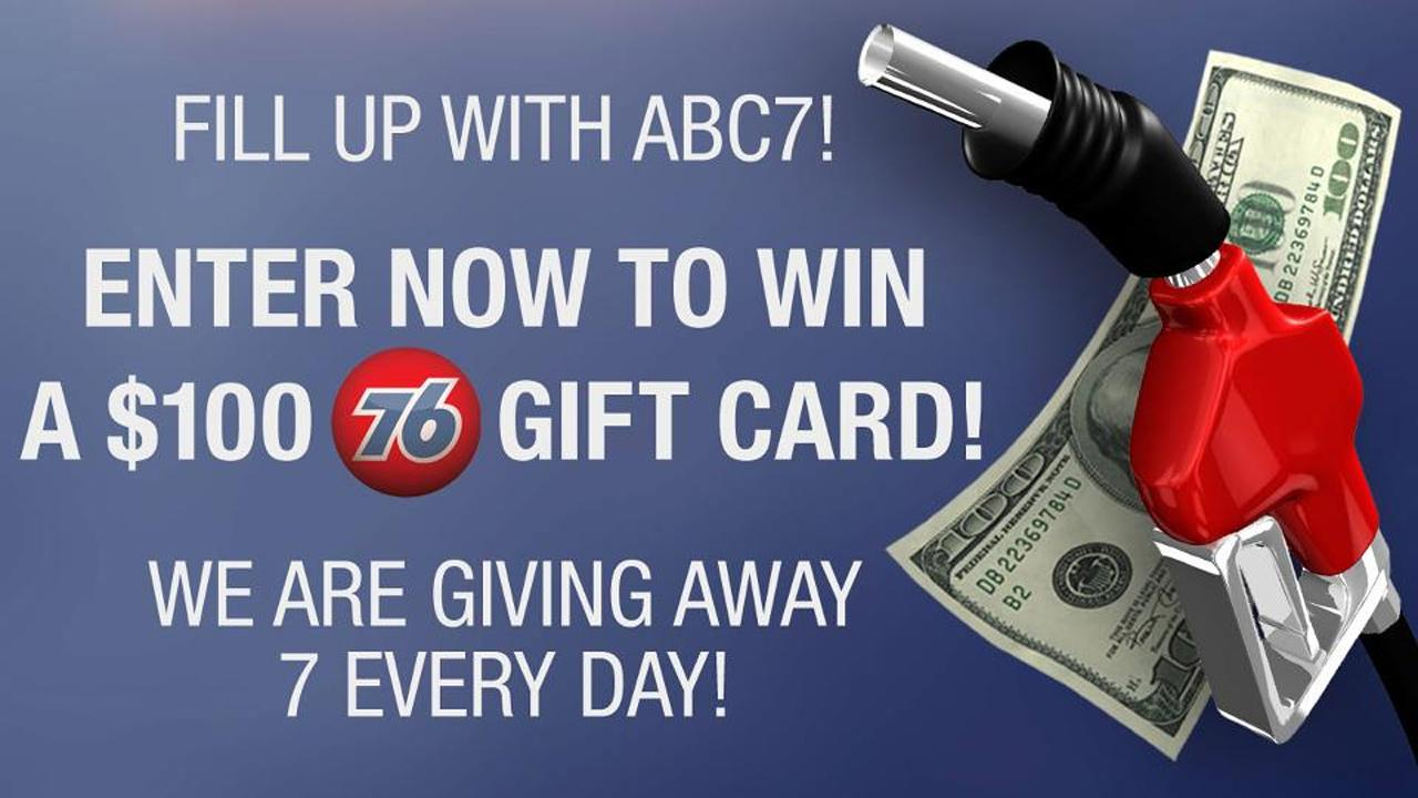 ABC7 wants to help fill up your tank! Enter our giveaway today for $100 gas cards on the ABC7 Facebook page.