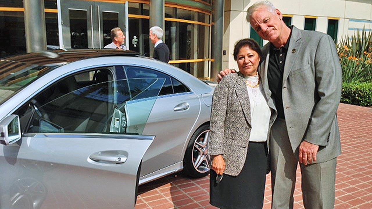 Mervat Silva of Orange County is the lucky winner in our Mercedes-Benz giveaway on the ABC7 Facebook page.