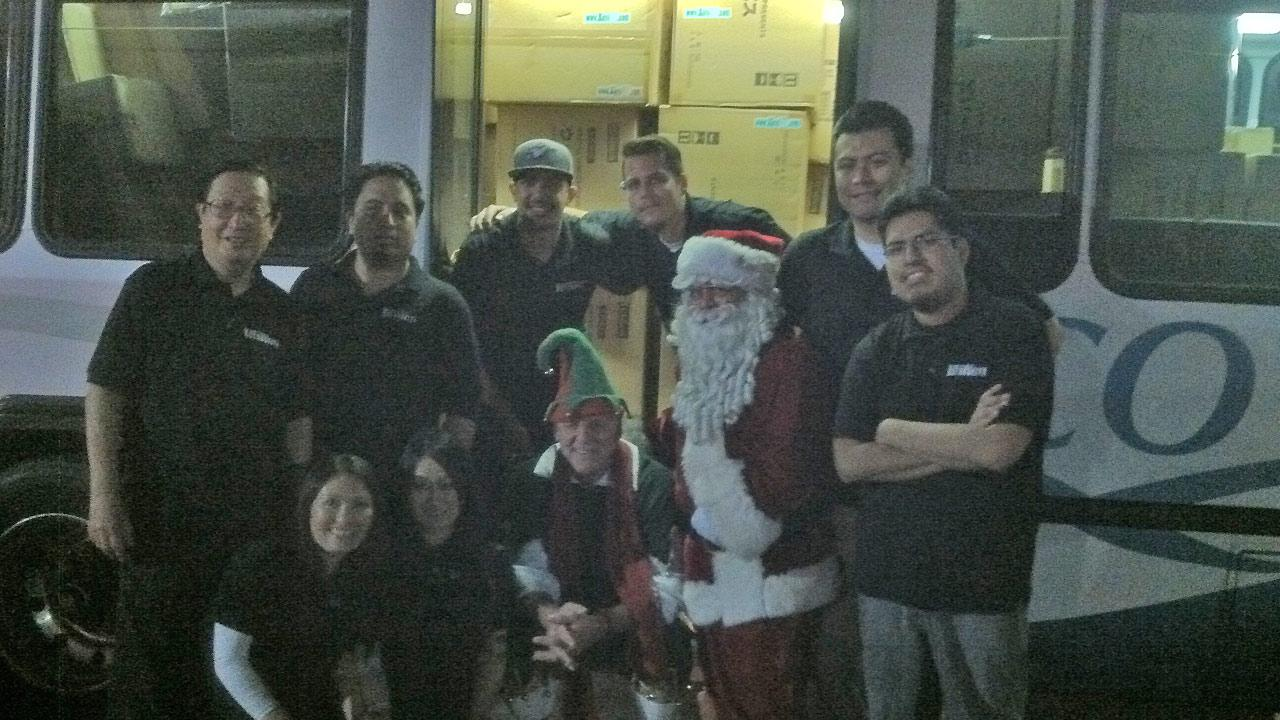 Kotobukiya generously donated a U-Haul full of toys to Stuff-A-Bus at the Los Cerritos Center on Friday, Dec. 7, 2012.
