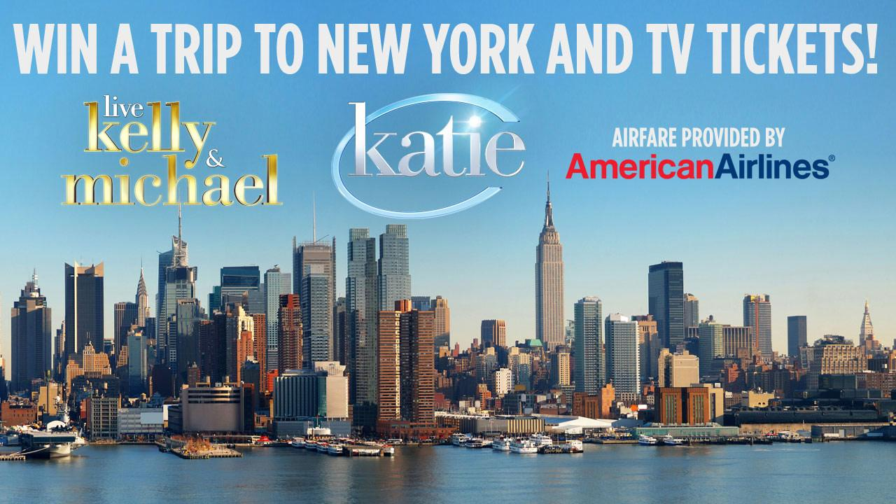 ABC7 wants to send you to NY to see Katie and LIVE! With Kelly and Michael! Enter our giveaway on the ABC7 Facebook page today.