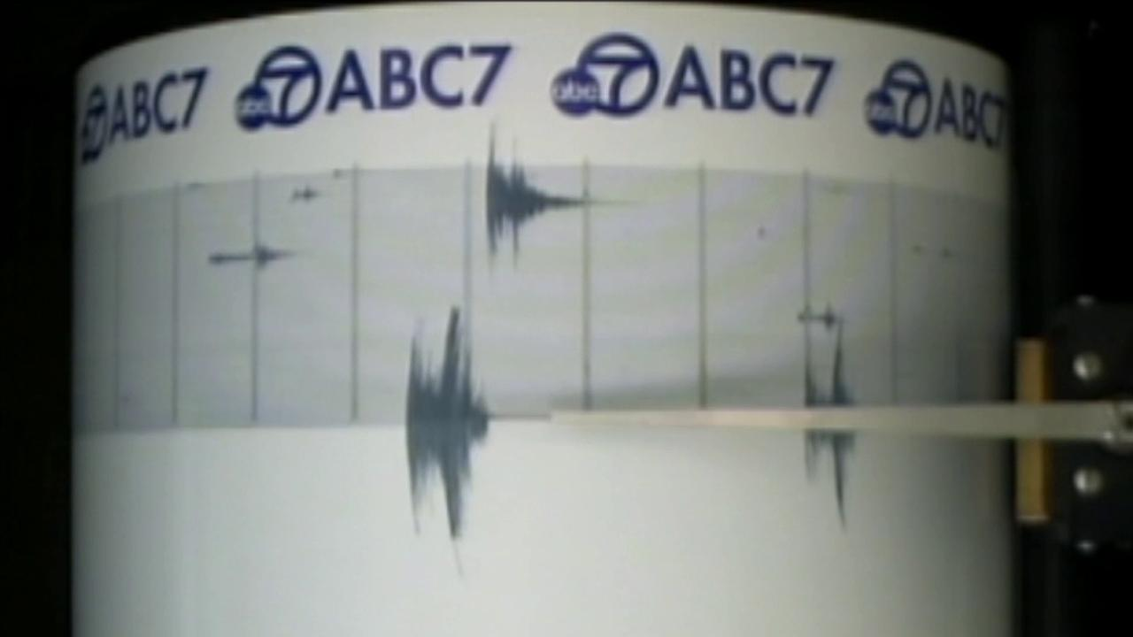 Shaking from a 3.4-magnitude earthquake is recorded on the ABC7 Quake Cam on Wednesday, March 27, 2013.