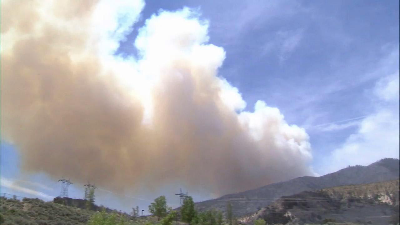 The Grand Fire burning near Frazier Park was near full containment at 80 percent Saturday, May 18, 2013.
