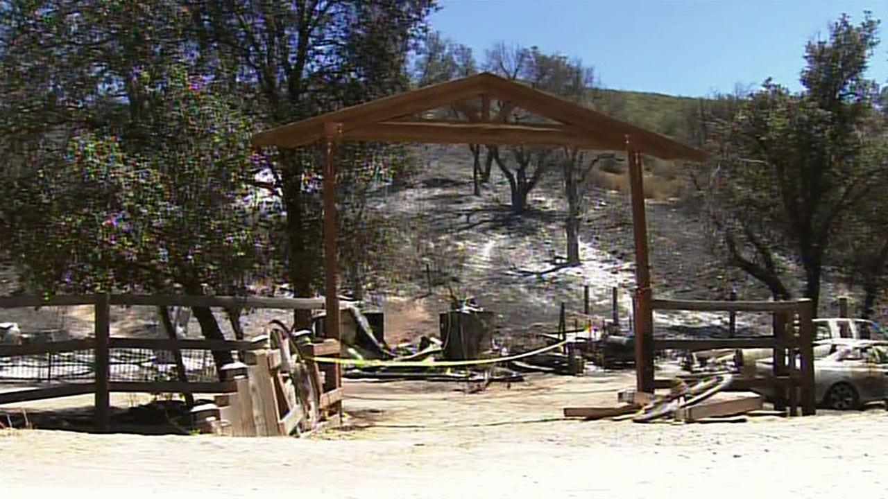 Damage from the Silver Fire is seen in  this Aug. 9, 2013 photo.