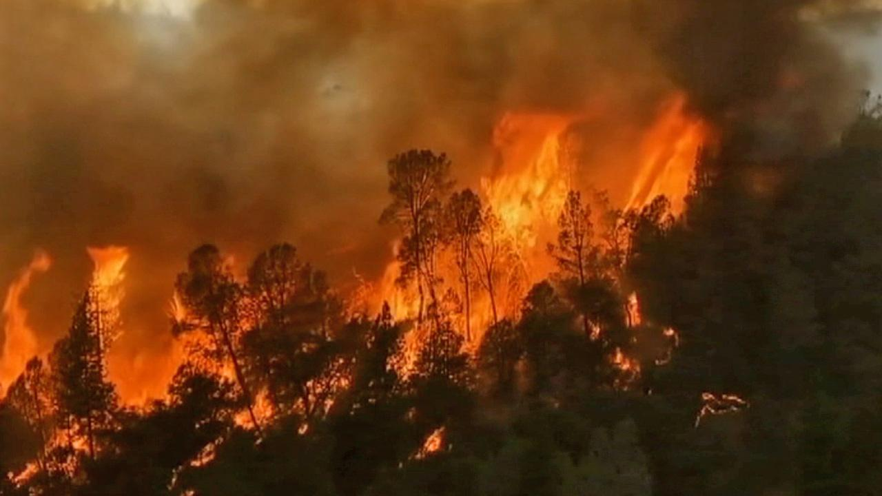 A wildfire that spread into Yosemite National Park grew to nearly 200 square miles on Saturday, Aug. 24, 2013.