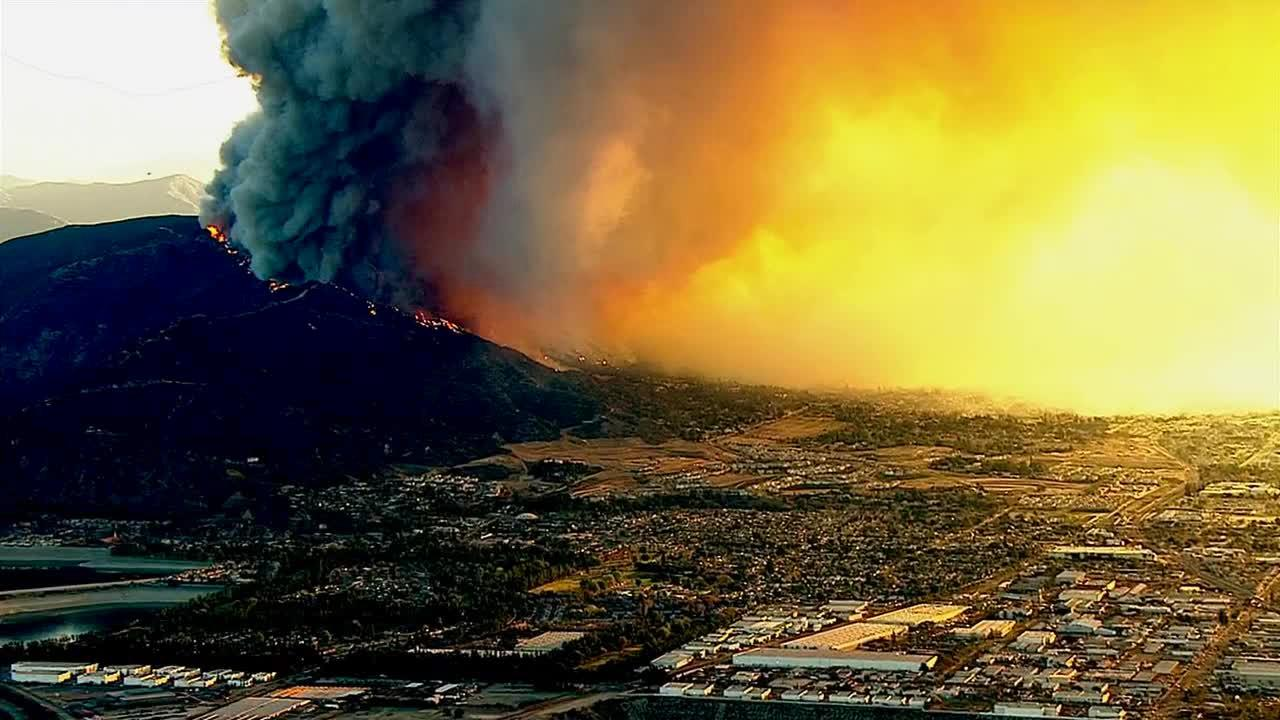 The Colby Fire, burning in the foothills above Glendora and Azusa, scorched more than 1,900 acres and burned several homes on Thursday, Jan. 16, 2014.