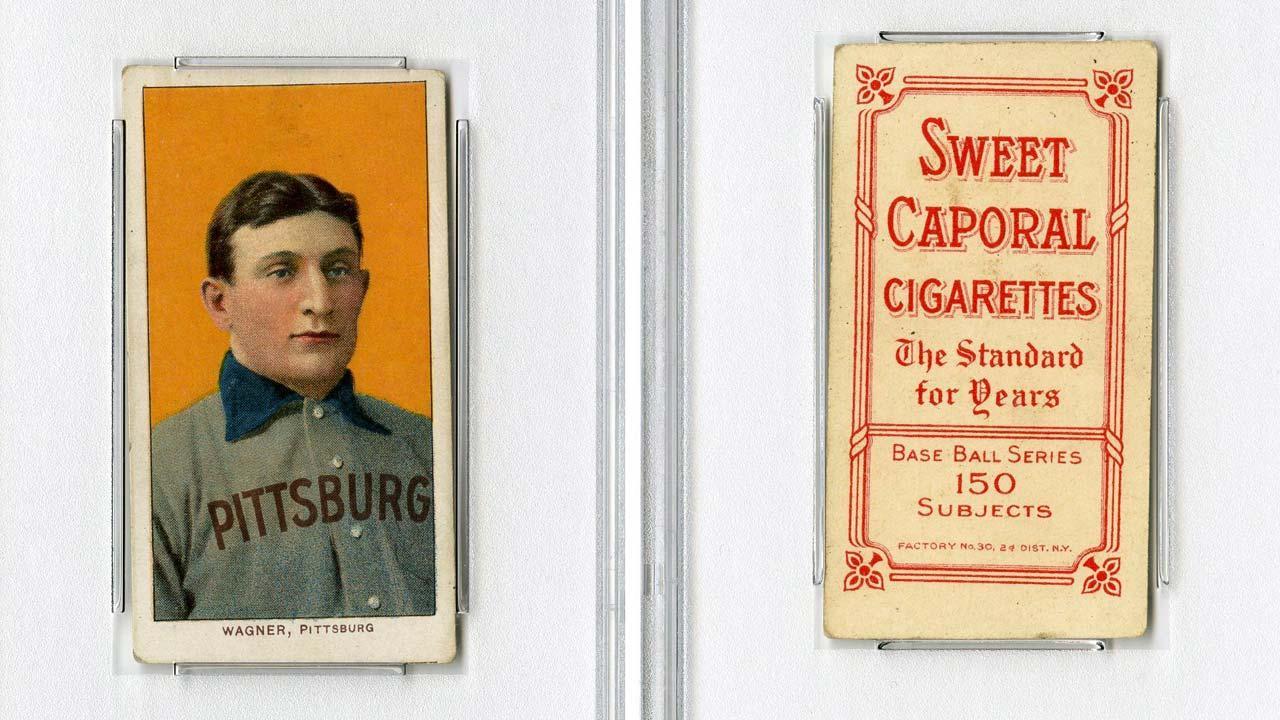 1909 Honus Wagner baseball card