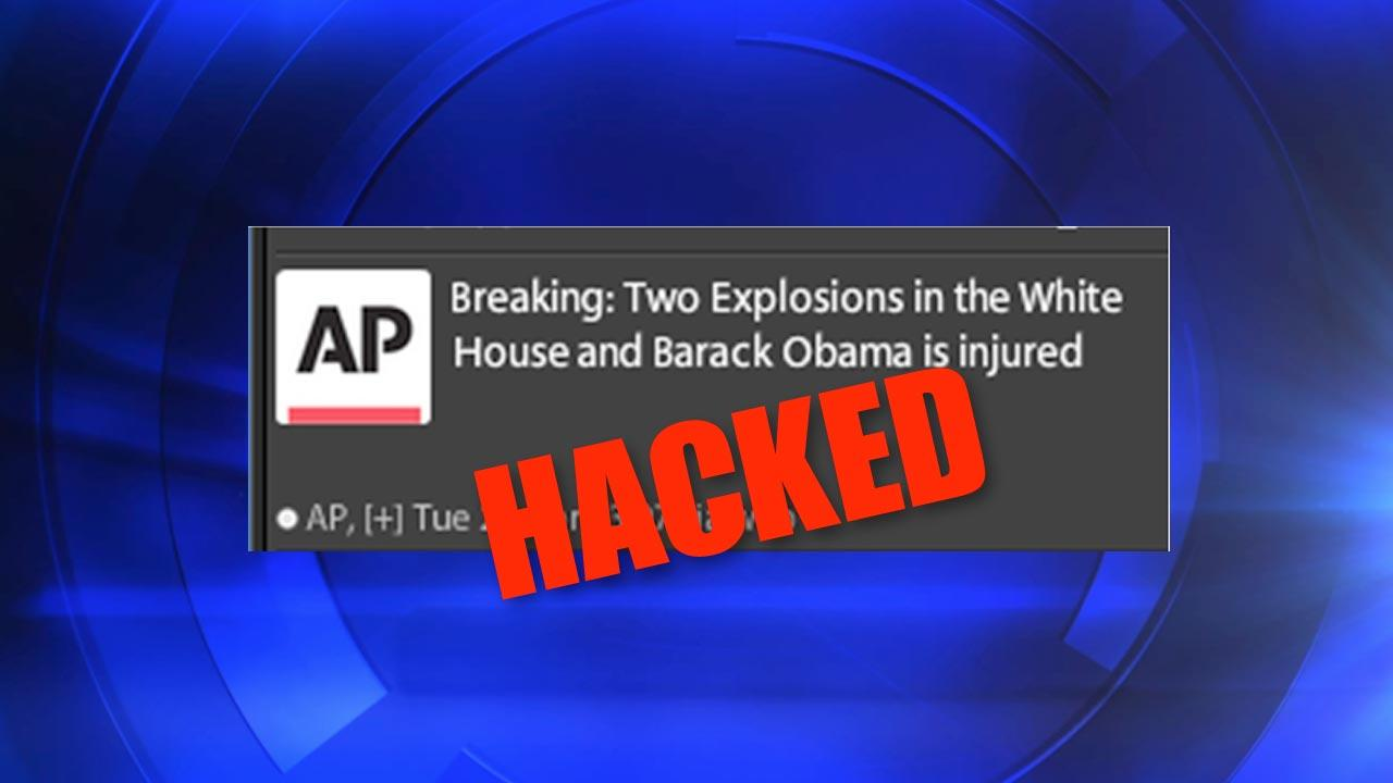 A screenshot of the tweet sent out by Hackers on the Associated Press Twitter account.