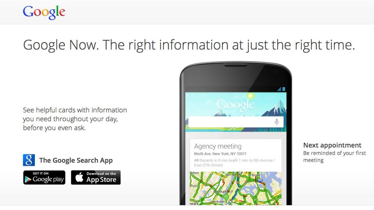 Google Now compares with Siri