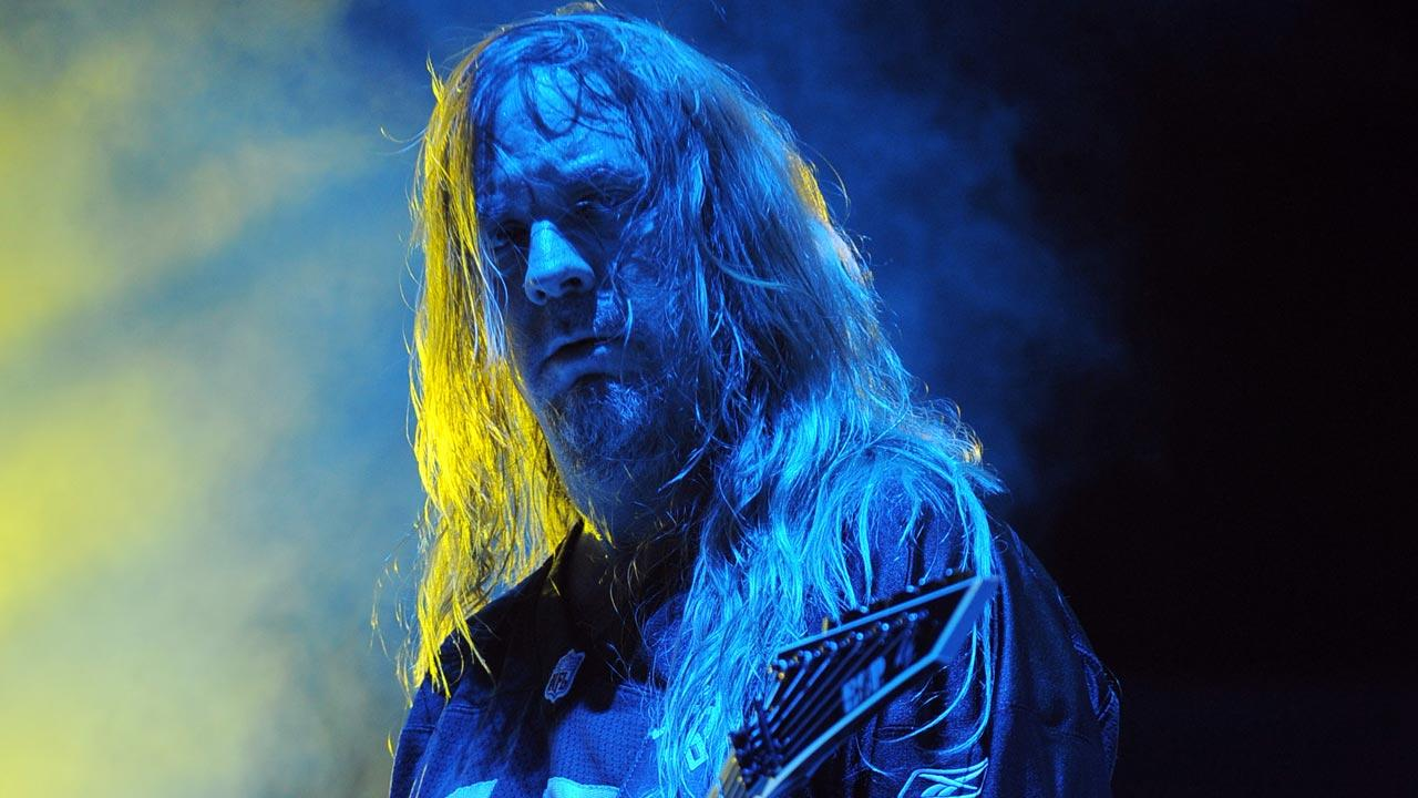Slayer guitarist and founding member Jeff Hanneman died earlier today of liver failure. He was 49. Jeff Hanneman performs on October 3, 2010 in Miami Beach Florida.