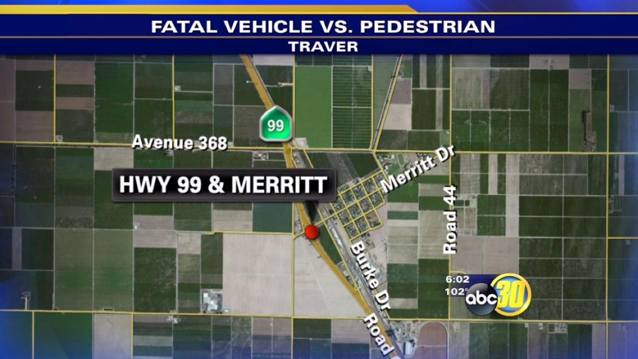 Pedestrian killed crossing HWY 99 in Tulare County