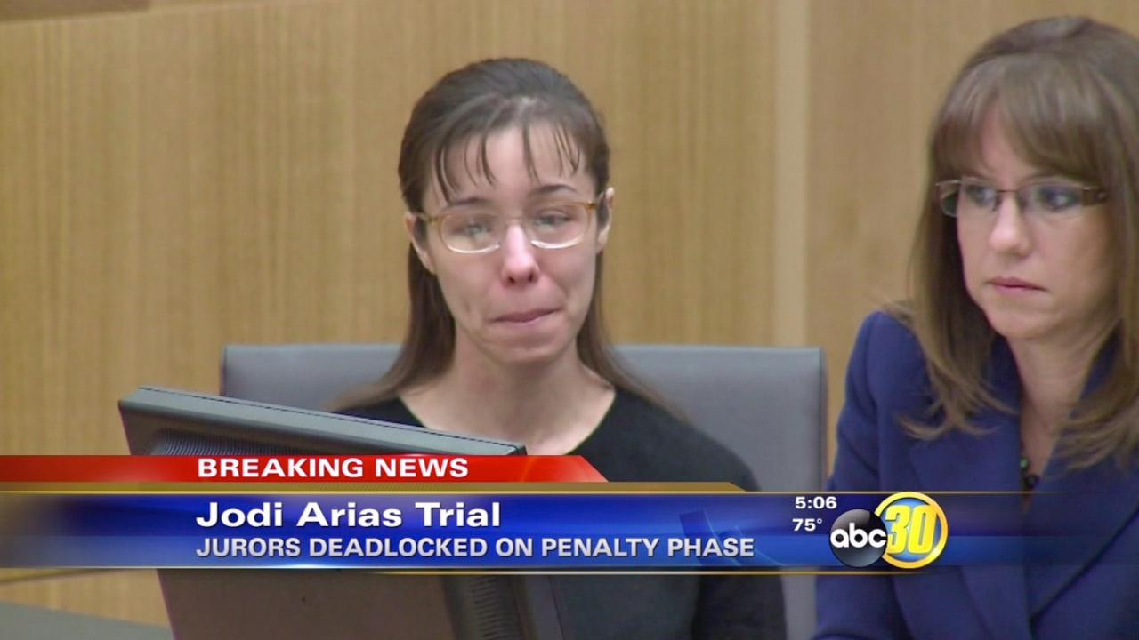 Jurors deadlock on Jodi Arias penalty