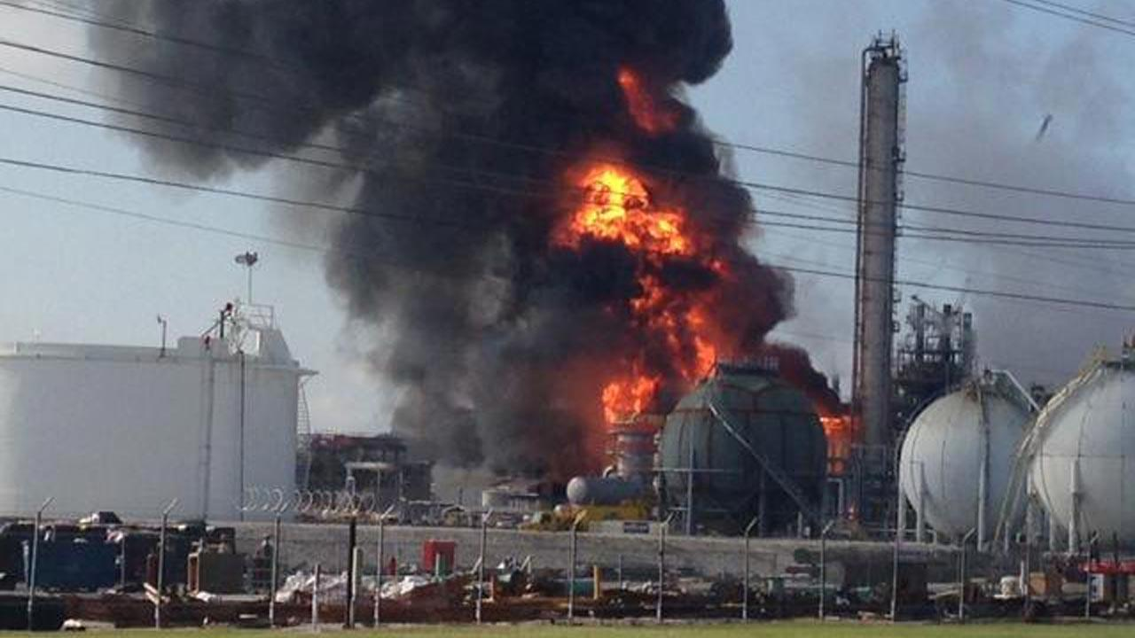 This photo provided by Ryan Meador shows an explosion at The Williams Companies Inc. plant in the Ascension Parish town of Geismar La., Thursday, June 13, 2013.