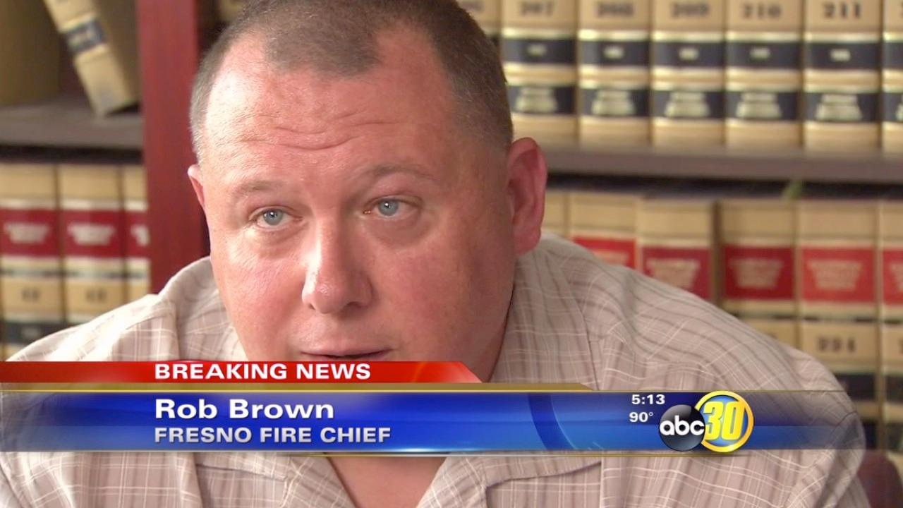 Fresno Fire Chief Rob Brown denies domestic violence charges