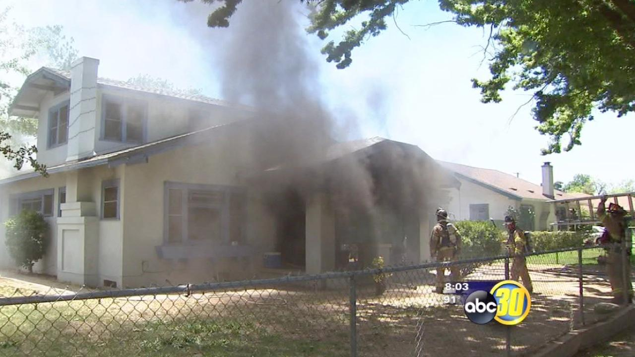 Pets rescued in house fire on Strother Avenue