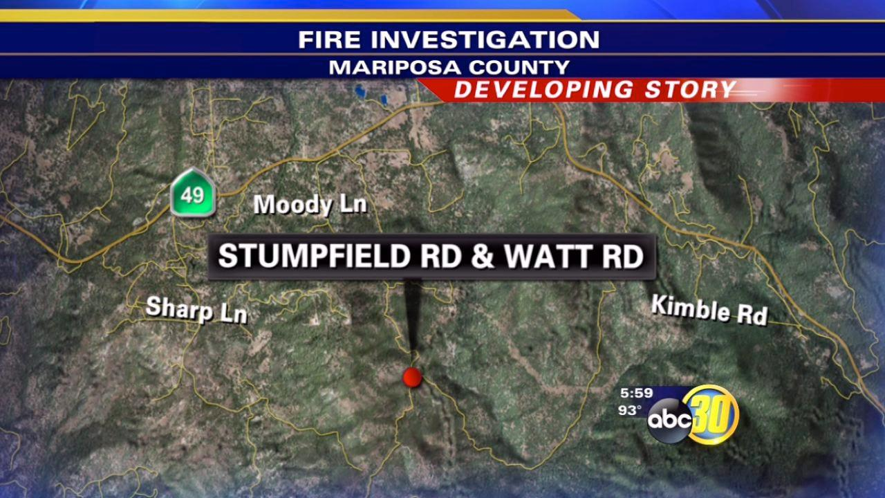 New wildfire burning in Mariposa County