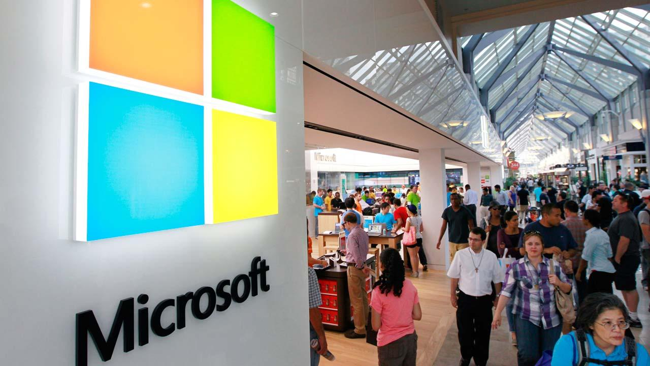 Microsoft store inside the Prudential Center mall
