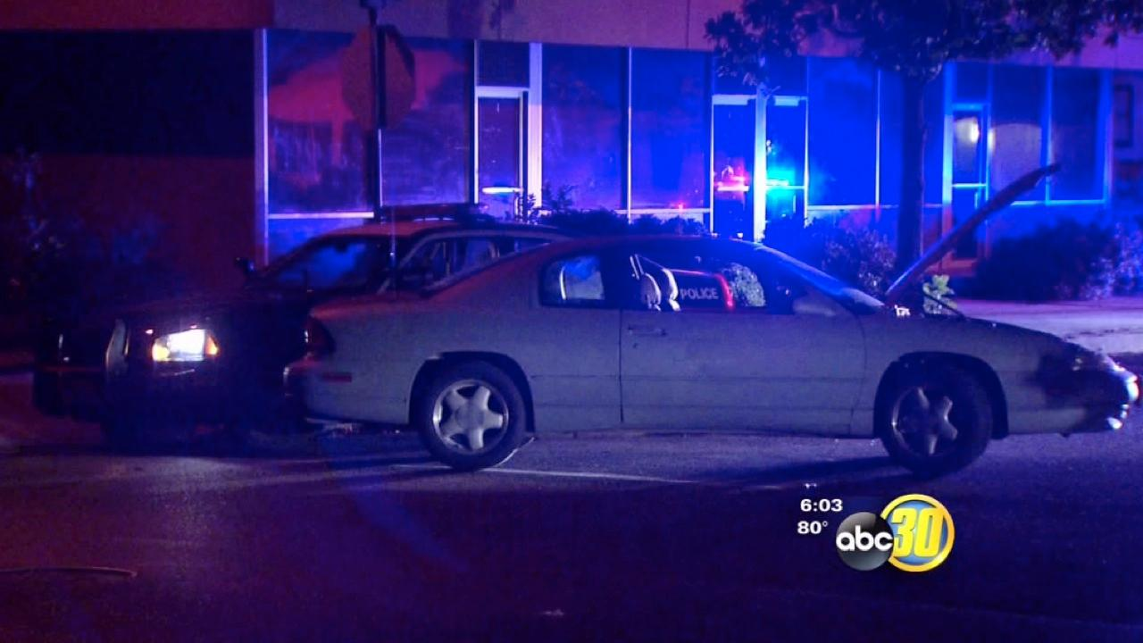 Low-speed chase in Fresno's Tower District