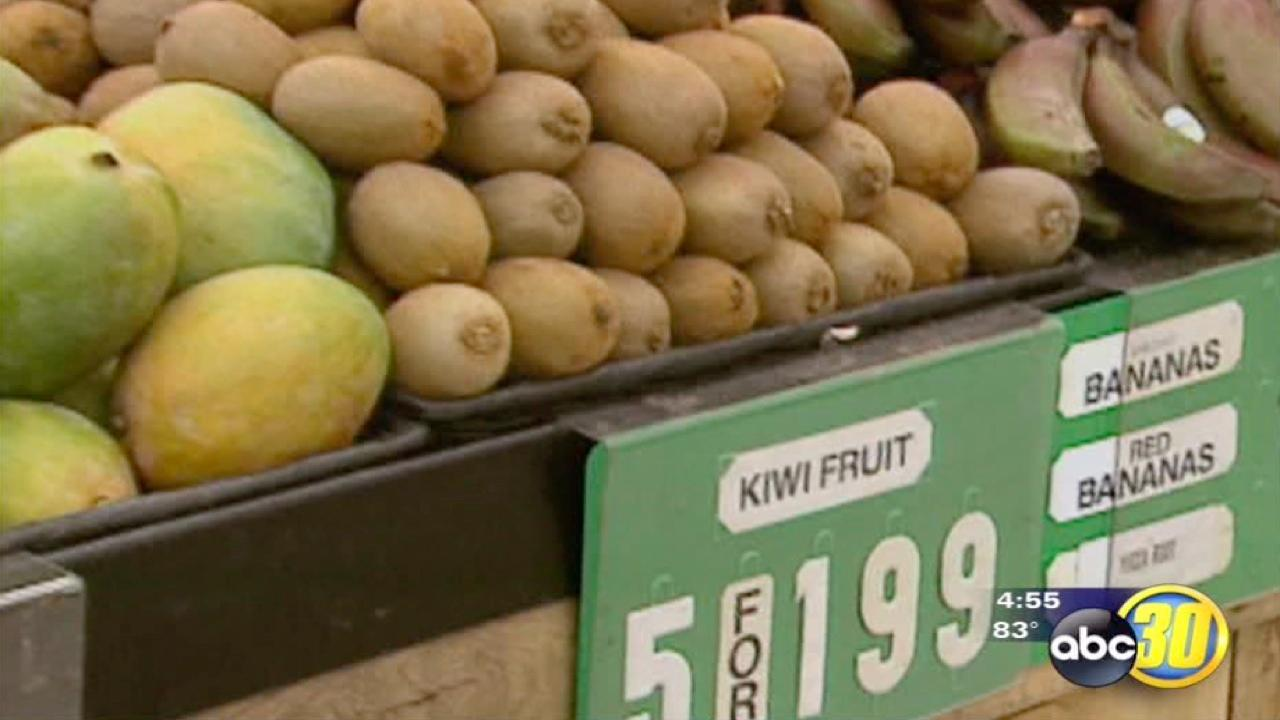 The prices of California kiwis are going up