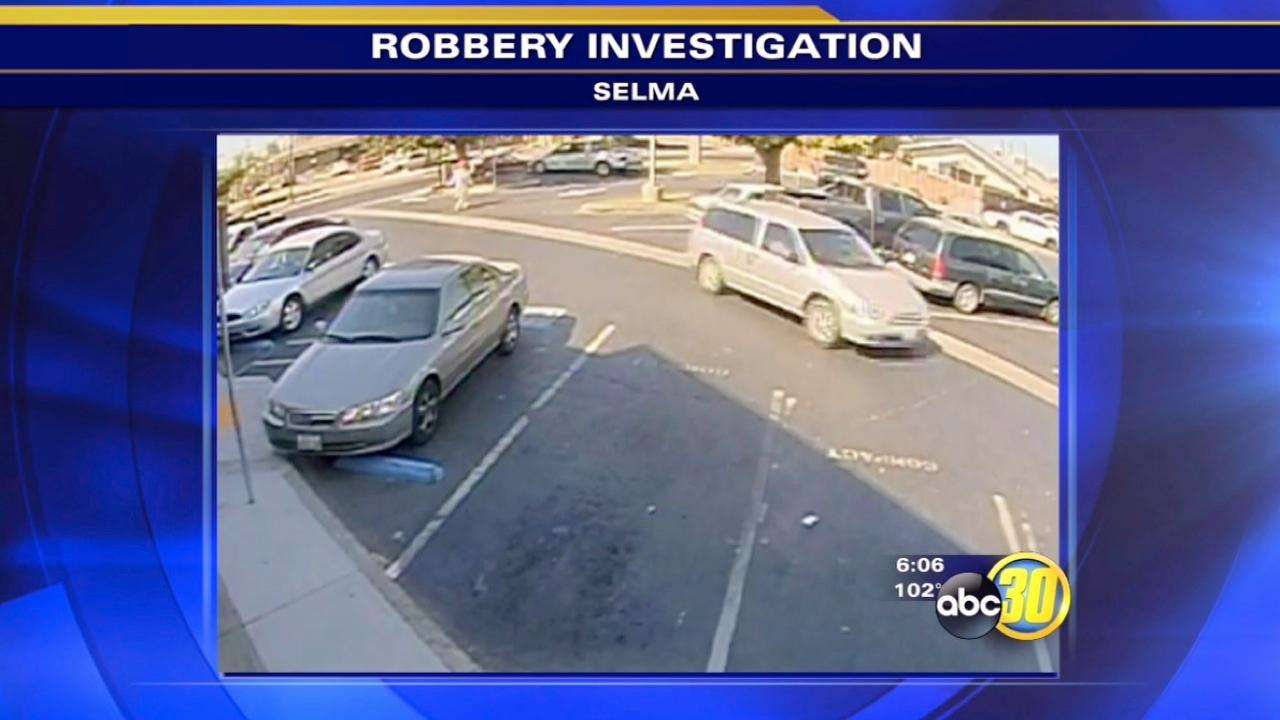 Selma police look for robber in silver van