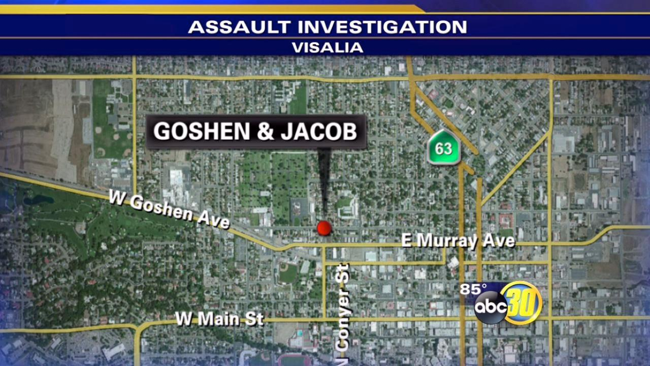 Visalia police say a man ran over his ex-girlfriend